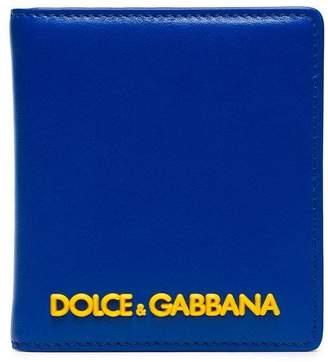 Dolce & Gabbana cobalt blue rubber logo card wallet