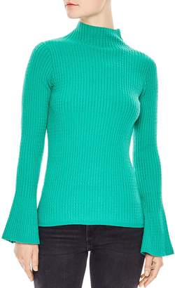 Sandro Estelle Flare-Sleeve Cable Knit Sweater