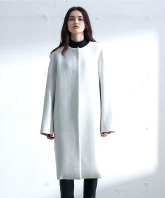Calvin Klein (カルバン クライン) - Calvin Klein women 【2017AW新作】ライトリーウールコーティング ノーカラーコート(C)FDB