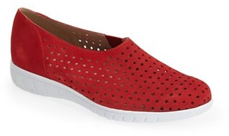 Women's Munro 'Skipper' Perforated Leather Sneaker $179.95 thestylecure.com