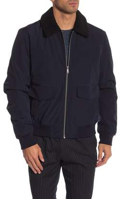 Cole Haan Faux Shearling Collar Jacket
