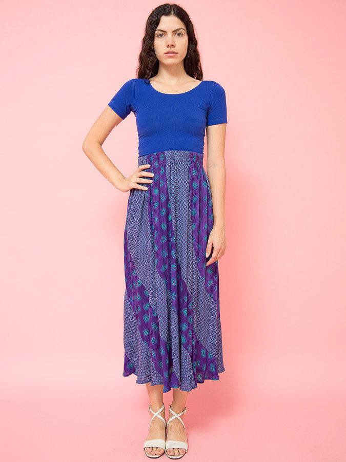 American Apparel Vintage Mixed Prints Long Skirt