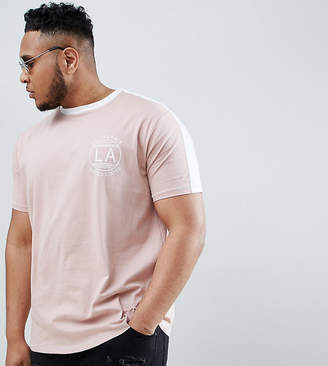 Duke King Size t-shirt with LA chest print and contrast panel
