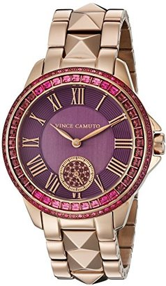 Vince Camuto (ヴィンス カムート) - Vince Camuto Women 's VC / 5160prrgスワロフスキーCrystal Accentedローズゴールド調ブレスレット腕時計