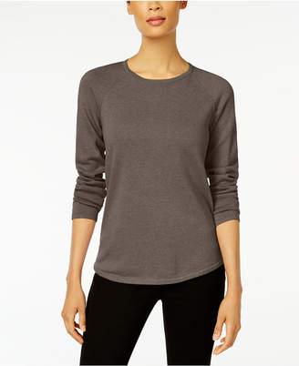 Karen Scott Petite Cotton Scoop-Neck 3/4-Sleeve Top