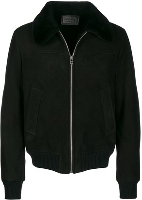 Prada sheep shearling zipped jacket