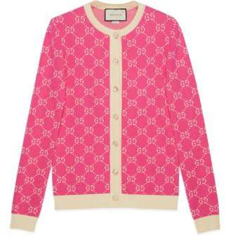 Gucci GG jacquard cotton cardigan