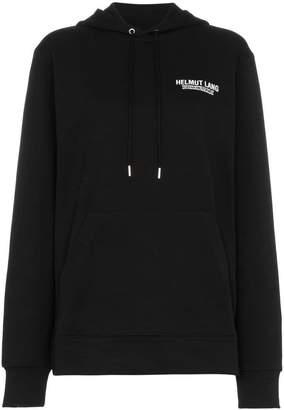 Helmut Lang drawstring logo hoodie