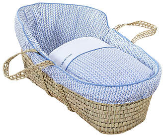 Clair De Lune Barley Bébé High Top Palm Moses Basket - Blue