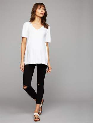Articles of Society Secret Fit Belly Skinny Leg Maternity Crop Jeans