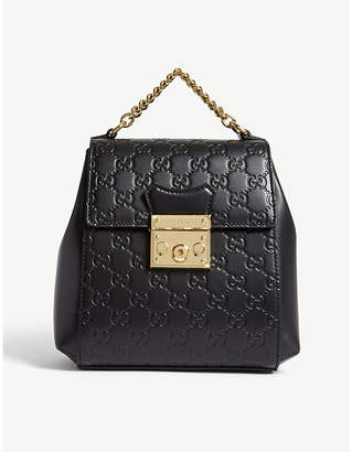 Gucci GG padlock leather backpack