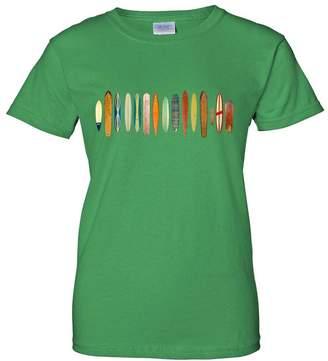 Co Dolphin Shirt Surfboard Wrap Ladies T-Shirt