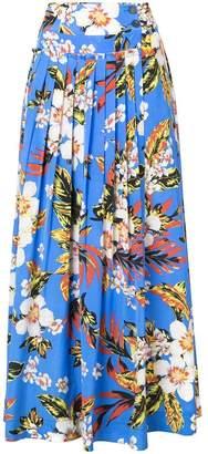 Diane von Furstenberg pleated floral skirt