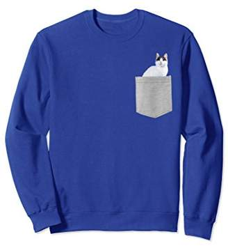 Japanese Bobtail Cat In Your Pocket Sweatshirt
