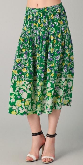 Rebecca Taylor Garden Flower Skirt