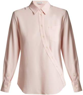 Altuzarra Garcia ruched-sleeve crepe blouse