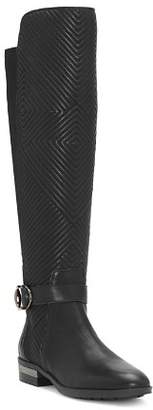 Vince Camuto Women's Pordalia Quilted Leather Tall Boots