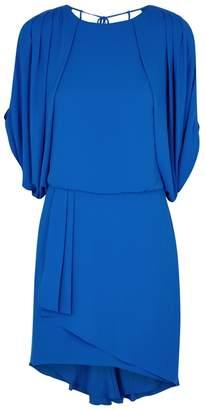 Halston Blue Cape Dress