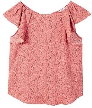 MANGO Ruffled sleeve blouse