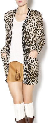 Ellison Leopard Print Cardigan $38 thestylecure.com