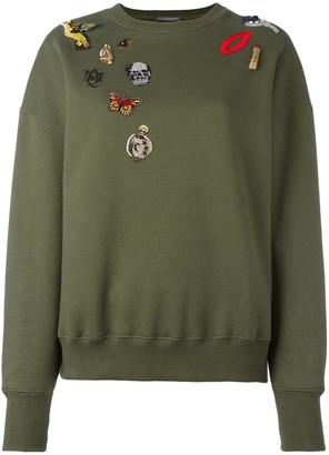 Alexander McQueen 'Obsession' sweatshirt $1,245 thestylecure.com