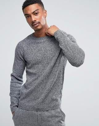 Selected Crew Neck Knit In Twisted Yarn