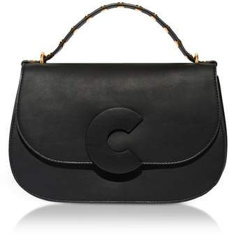 Coccinelle Craquante Rock Leather and Suede Satchel Bag w/Studded Handle