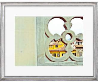 Artfully Walls Florentine Window Framed Giclee Print