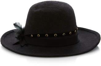 Gigi Burris Ryan Embellished Rabbit Fur Felt Fedora Hat