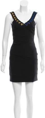 Preen by Thornton Bregazzi Preen Ruche-Accented Mini Dress