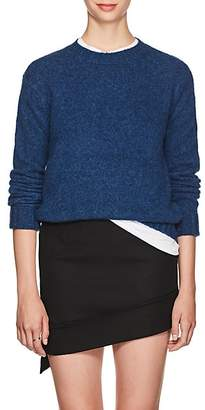 Helmut Lang Women's Brushed Wool-Blend Crewneck Sweater - Blue