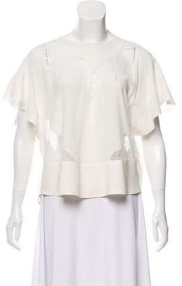IRO Lace Short Sleeve Top