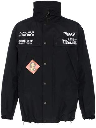Off-White Goretex zip fastening jacket