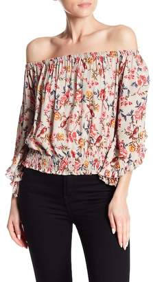 Angie Off-the-Shoulder Patterned Blouse