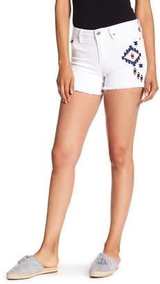 Nanette Lepore NANETTE Ikat Embroidered Denim Shorts