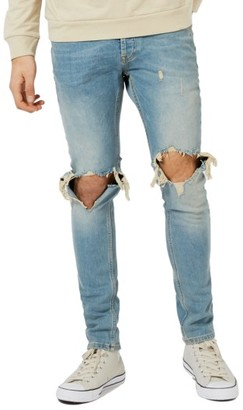 Men's Topman Ripped Stretch Skinny Jeans $85 thestylecure.com