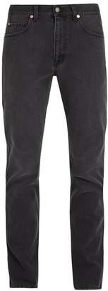 Gucci Mid Rise Straight Leg Jeans - Mens - Black