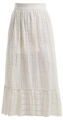 Zimmermann Melody Ladder Cotton Skirt - Womens - Ivory