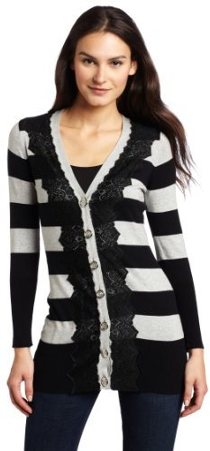 Charlotte Tarantola Women's Stripe Cardigan Sweater