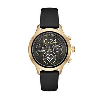 Michael Kors Women's 'Access Runway Plated and Stainless Steel Silicone Smart Watch