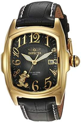 Invicta Men's 'Disney Limited Edition' Quartz Gold-Tone and Leather Casual Watch