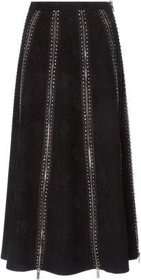 Christopher Kane Show Crystal Zip Skirt