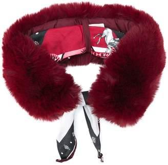 Pinko faux fur collar scarf