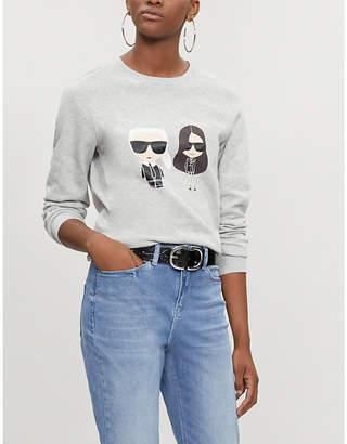 Karl Lagerfeld LARGERFELD x KAIA Ikonik cotton-jersey sweatshirt