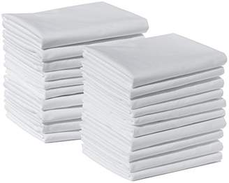 20 Standard Size 100% Cotton White T220 Percale Wholesale Bulk Discount Pillowcases Tie-Dying
