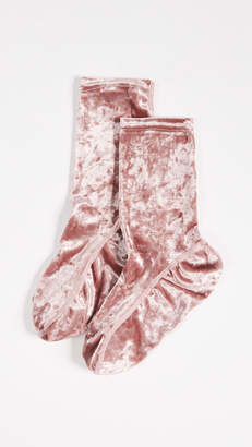 Free People Go Go Velour Socks