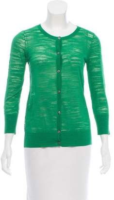 DKNY Long Sleeve Button-Up Cardigan
