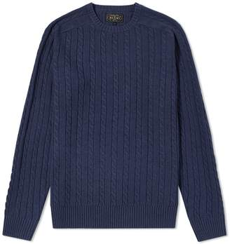 Beams Cable Crew Knit