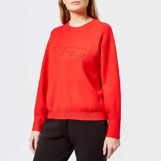 GUESS Women's Long Sleeve Audrey Sweatshirt
