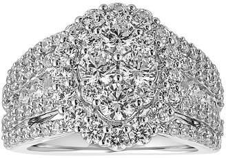 MODERN BRIDE 3 CT. T.W. Diamond 14K White Gold Engagement Ring